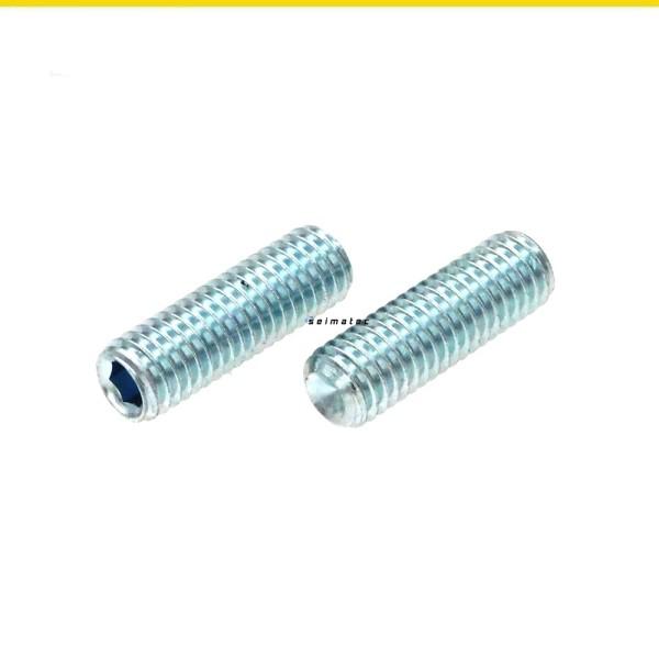 Gewindestifte Madenschrauben Stahl verzinkt DIN 916