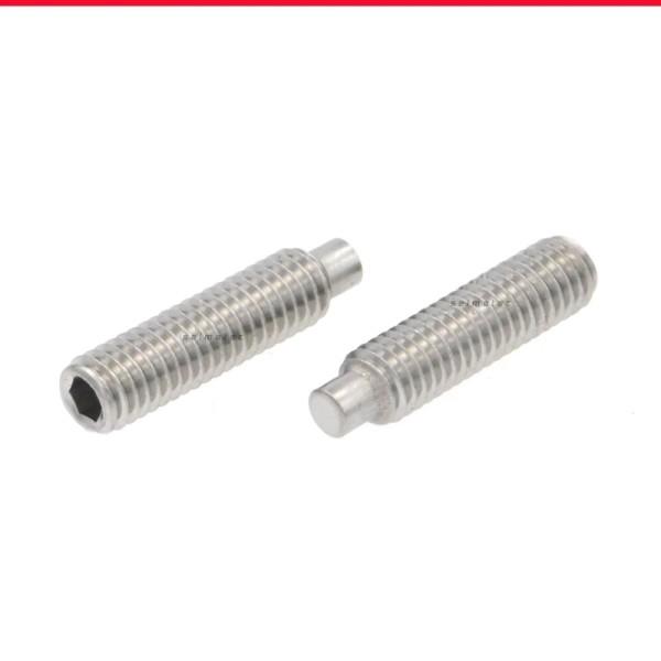 Gewindestifte mit Innensechskant und Zapfen Edelstahl A4 DIN 915