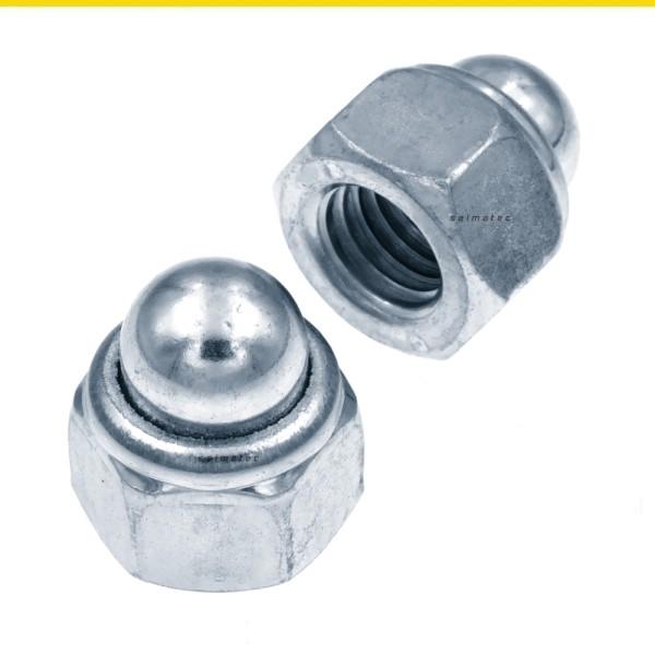 Hutmuttern hohe Form selbstsichernd Stahl verzinkt DIN 986