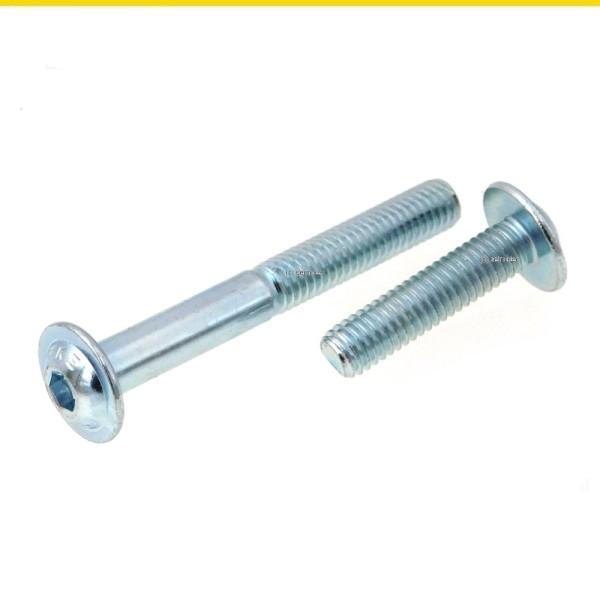 Flachkopfschrauben mit Bund ISO 7380-2 Stahl verzinkt 10.9