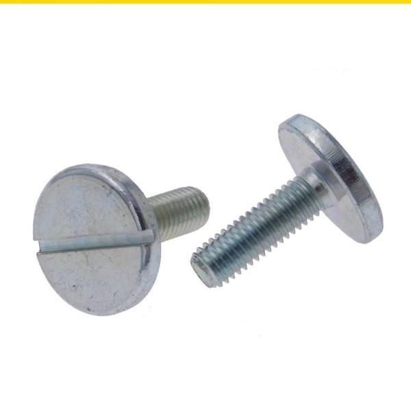 Flachkopfschrauben mit großem Kopf und Schlitz DIN 921 Stahl verzinkt