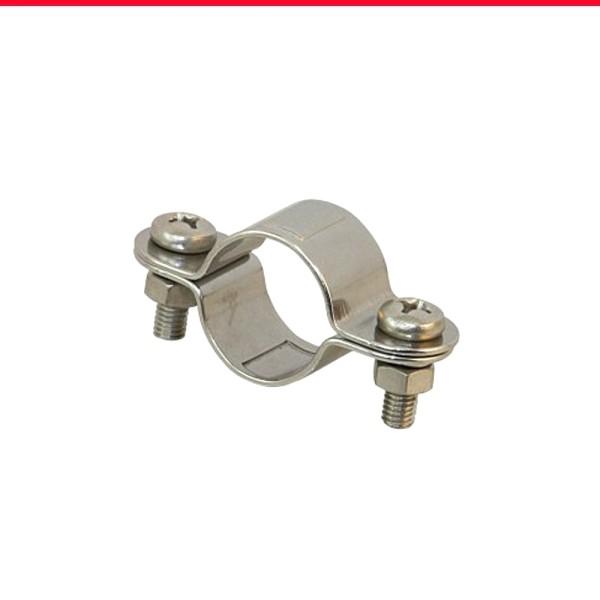 Rohrschellen für 30 mm Rohr aus Edelstahl 1.4401