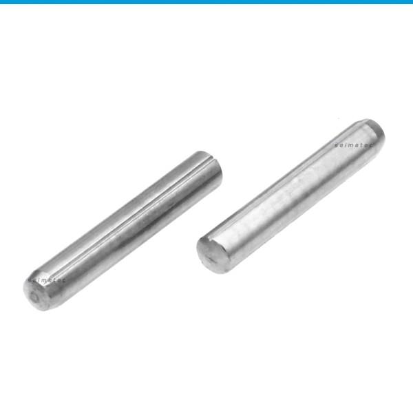 Zylinderkerbstifte mit Fase Edelstahl 1.4305 DIN 1473