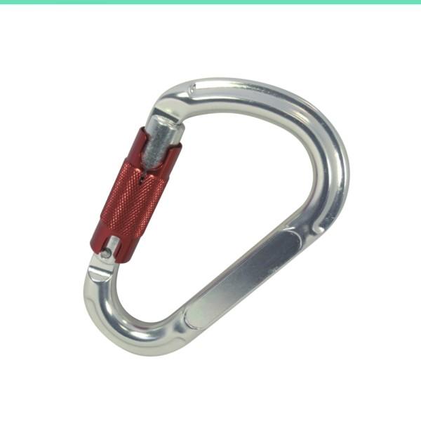Karabinerhaken mit Einpunkt-Sicherung 1/4 Drehung Alu