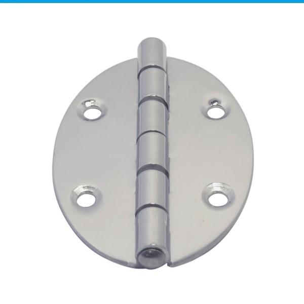 Scharnier Möbelscharnier oval Edelstahl A2 78x56x2 mm #8901