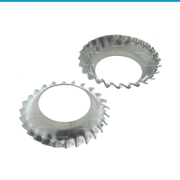 Zahnscheiben Form V Edelstahl 1.4310 DIN 6798