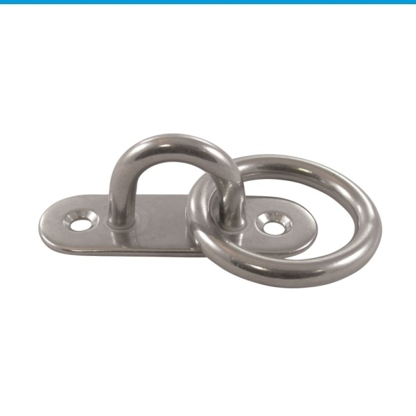 Mastplatte oval mit Ring Edelstahl A2 #814784