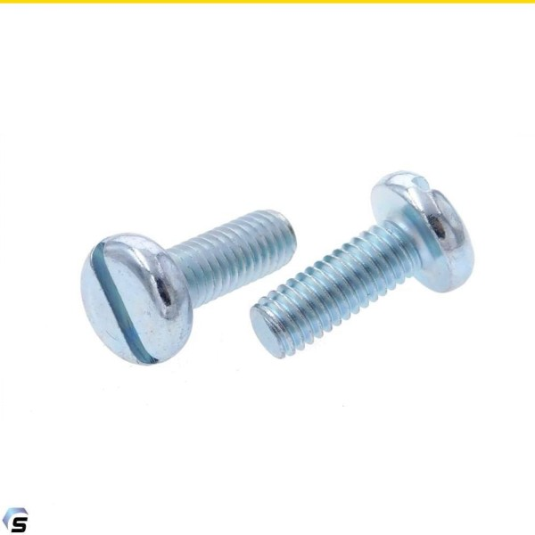Flachkopfschrauben mit Schlitz Stahl verzinkt DIN 85