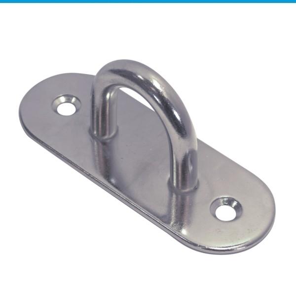 Mastplatte oval Edelstahl A2 #8266