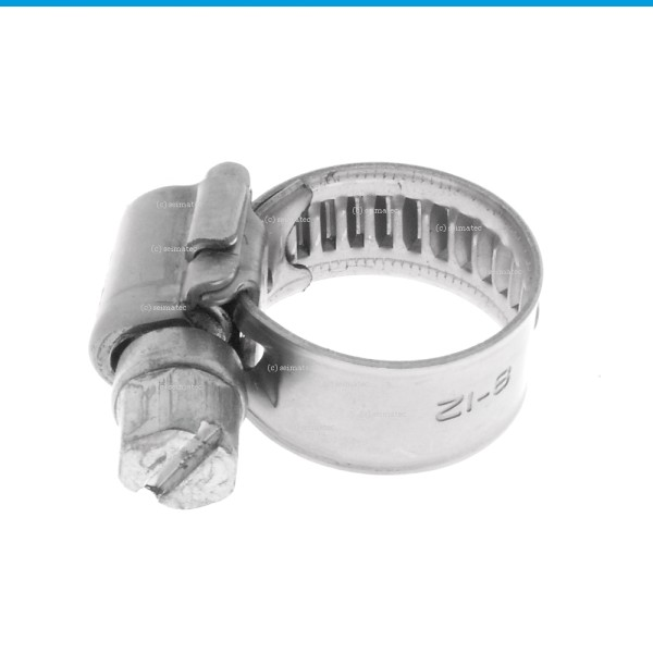 Schlauchschellen mit Schneckenantrieb Form A Edelstahl A2 DIN 3017