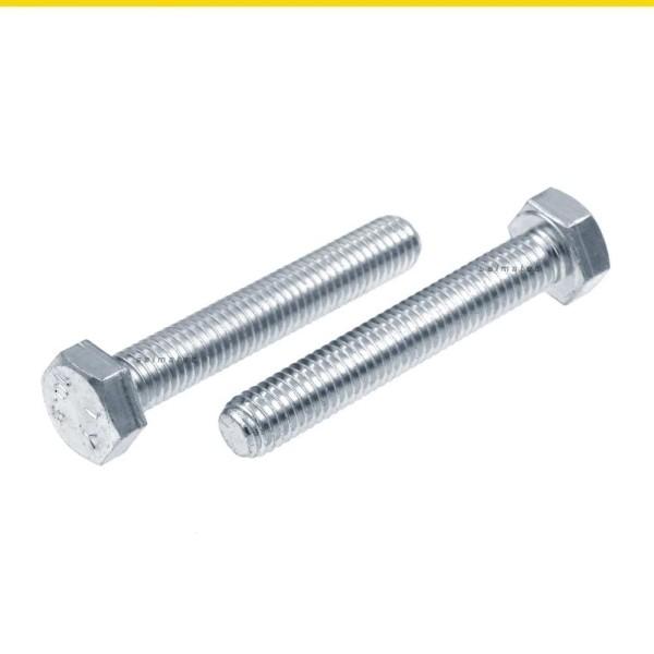 Sechskantschrauben Vollgewinde DIN 933 10.9 Stahl verzinkt