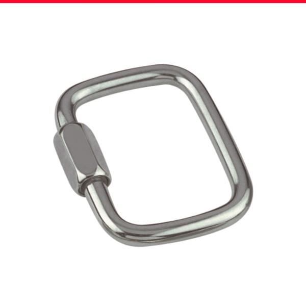 Schraubverbinder quadratisch aus Edelstahl A4