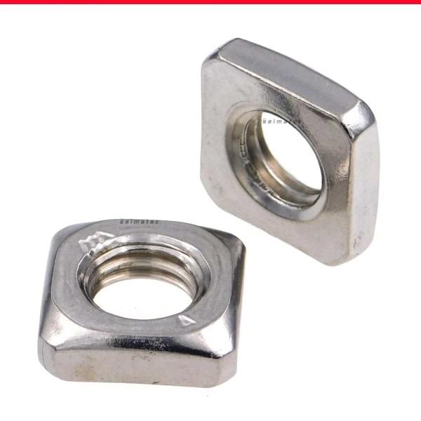 Vierkantmuttern niedrige Form Edelstahl A4 DIN 562