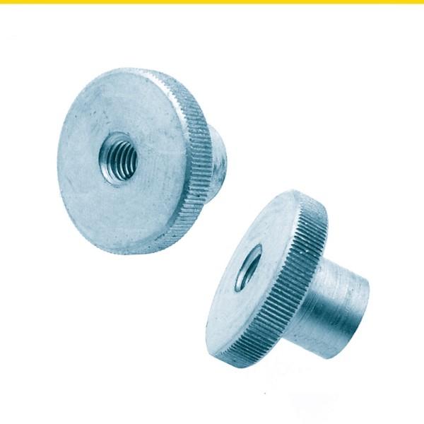 Rändelmuttern hohe Form Stahl verzinkt DIN 466