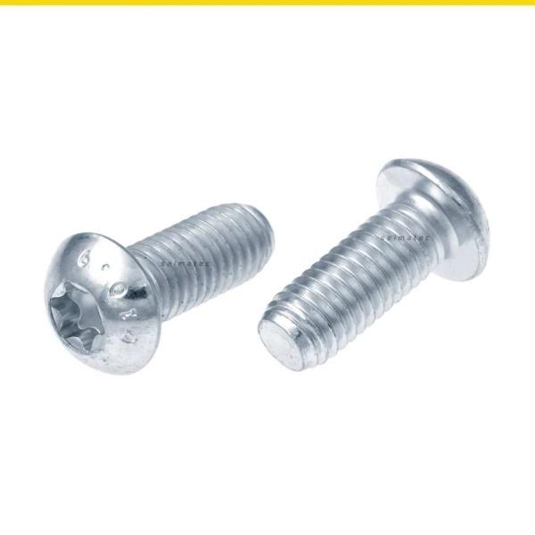 Flachkopfschrauben mit TX ISO 7380-1 Stahl verzinkt 10.9