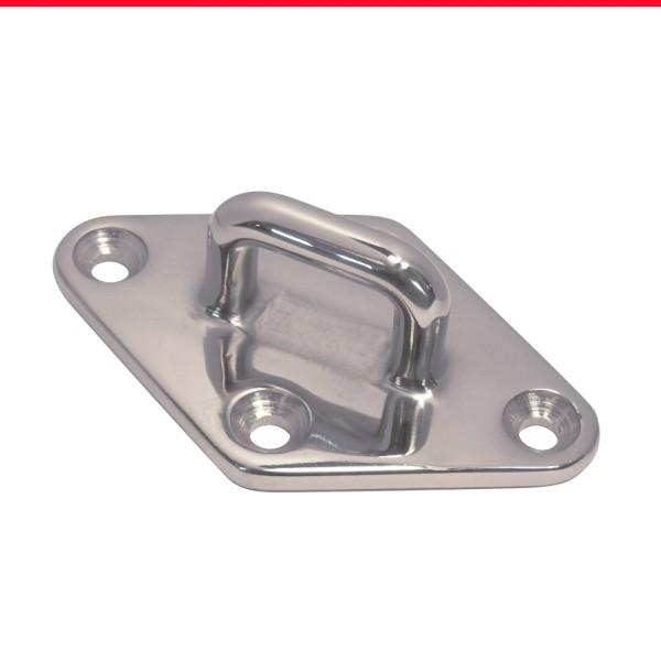 Bügelplatte Decksplatte Edelstahl A4 L = 90 mm #8223