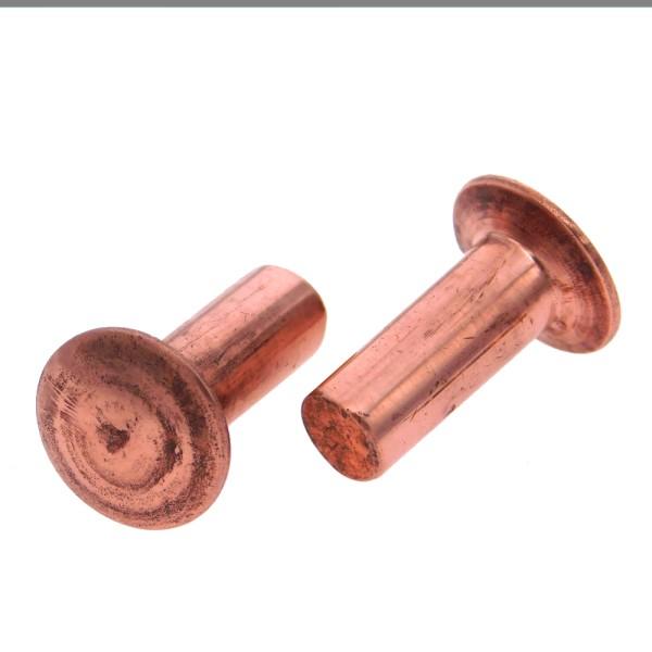 Linsenniete DIN 662 Kupfer