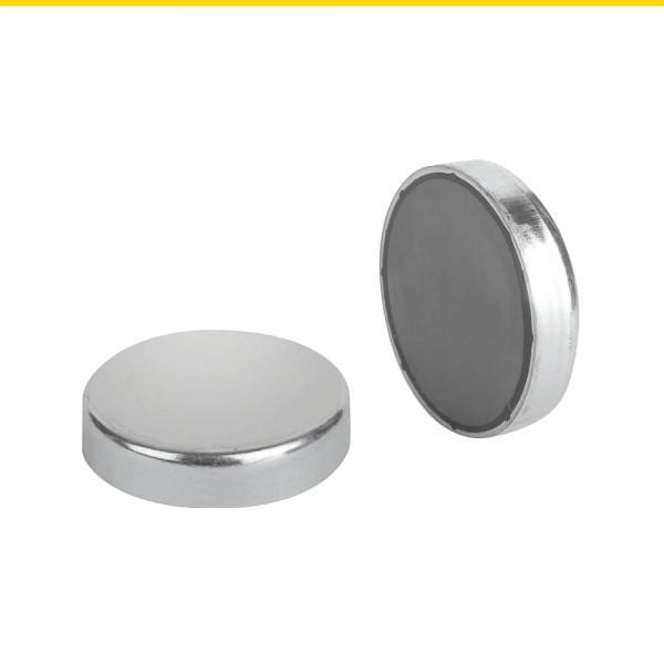 Magnete Flachgreifer aus Hartferrit rund Stahl verzinkt