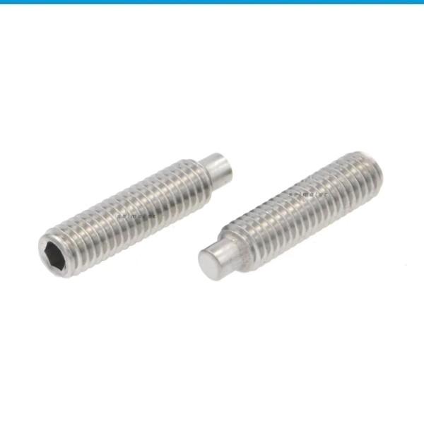 Gewindestifte mit Innensechskant und Zapfen Edelstahl A1 DIN 915
