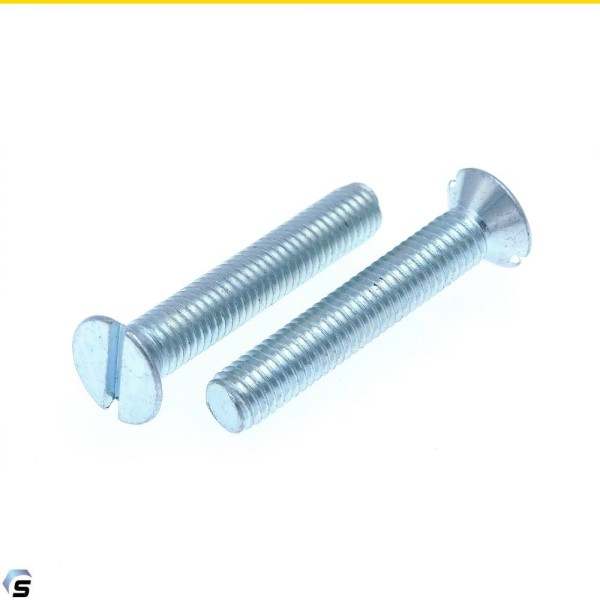 Senkschrauben mit Schlitz Stahl verzinkt DIN 963
