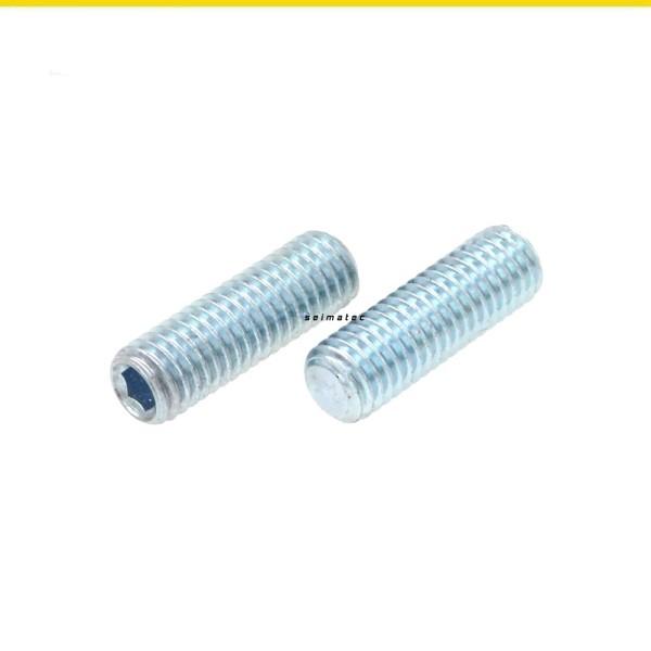 Gewindestifte Madenschrauben Stahl verzinkt DIN 913 Güte 45H