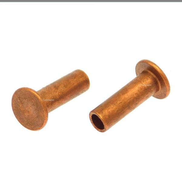 Nieten für Brems- und Kupplungsbeläge DIN 7338 B
