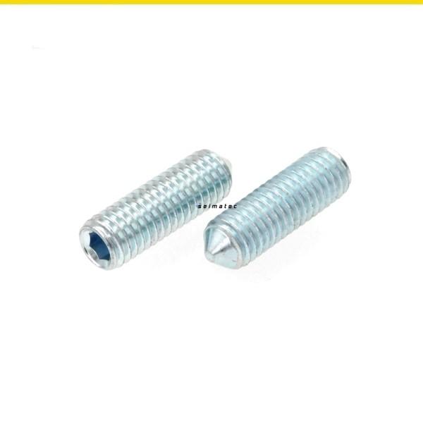 Gewindestifte madenschrauben Stahl verzinkt nach DIN 914 mit Spitze